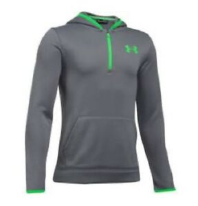 UNDER ARMOUR UA BOYS ARMOUR FLEECE QUARTER ZIP PS NOVELTY HOODIE XS S GRAPHITE $9.95