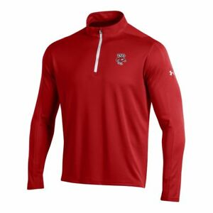 Wisconsin Badgers Under Armour Red Golf Loose 14 Zip LS Pullover