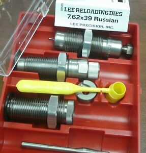 NEW LEE 3 DIE SET 7.62X39 WITH SHELL HOLDER+CRIMP 90565