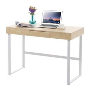 Computer Desk Table with Drawer Home Office Study Writing Desk Workstation J1G7