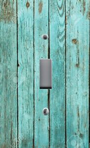 Light Switch Plate Outlet Covers RUSTIC COASTAL BLUE BEACH AGED BATTERED WOOD 01