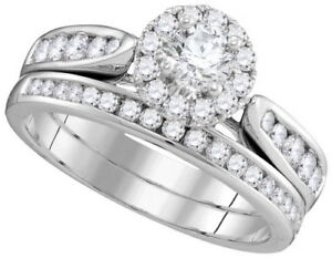 Halo Design Round Cut 2.25 CT Diamond Bridal Set Ring GIA Certified
