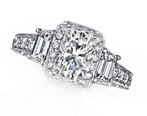 Cushion Shape GIA Certified Diamond 6.50 carat Halo Design Engagement Ring 18...