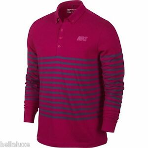 nwt~Nike GOLF Dri-Fit SPORT LONG SLEEVE Polo Performance Shirt LS Top~Men sz 2XL
