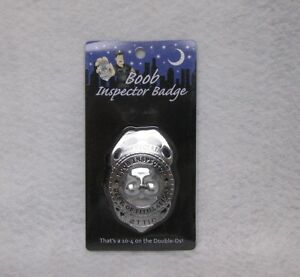 Official Boob Inspector Badge Novelty Gag Gift Bachelor Party Pride Prize Favor