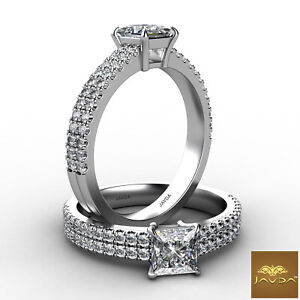 1.21ctw Celebrity Style Princess Diamond Engagement Ring GIA D-VS2 White Gold