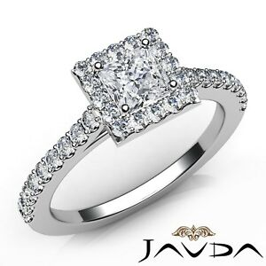 1.22ctw Celebrity Style Princess Diamond Engagement Ring GIA F-VS2 White Gold