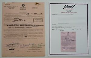 OTIS REDDING JIMMY HUGHES SIGNED 1965 CONTRACT AUTOGRAPH REAL COA PSA GUARANTEED