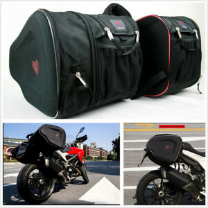2 Pcs Black Durable 900D Encryption Oxford Motorcycle Scooter Saddle Bags 36-58L