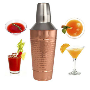 Copper Stainless Steel Cocktail Shaker Cocktail Mixer W Jigger Cap Strainer