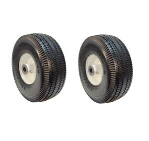 Set of Two 4.10/3.50-4 Flat Free Wheels for Toro 105-3471 Time Cutter Z, 3/4