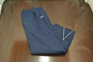 15820 Womens Under Armour ASG Blue Athletic Gym Sweat Track Pants Size Small