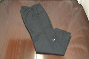 14961 Womens Under Armour Black Athletic Gym Sweat Track Pants Size Small