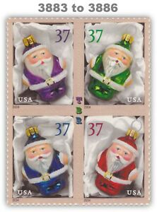 3883-86 3886 3886a Holiday Ornaments Block of 4 From Sheet 2004 MNH - Buy Now