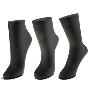 Adult SML Mannequin Foot Anklet Socks Display Three Molds Colors