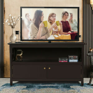 TV Stand Entertainment Center Console Media Storage Cabinet for Living Room