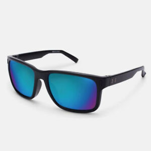 UNDER ARMOUR ASSIST SUNGLASSES SATIN BLACK FRAME  BLUE MIRROR GRAY LENS 18271