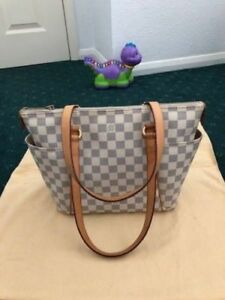 Authentic Louis Vuitton Damier Azur Totally PM Tote Bag
