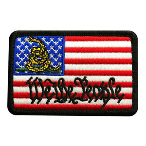 We The People USA Flag Gadsden iron on Sew on Patch WTP1A