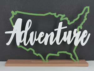 New Tabletop Word in USA Outline - Adventure