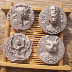 Pharaoh Ancient Copper Coins Silicone Fondant Sugar Cookie Mould Cake Decor S