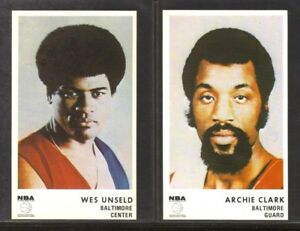 1972-73 Icee Bear - Archie Clarke & Wes Unseld BALTIMORE BULLETS ~ NM
