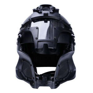 Full-covered WoSporT Tactical System BUMP Helmet Mask Goggle CS Game Exercise