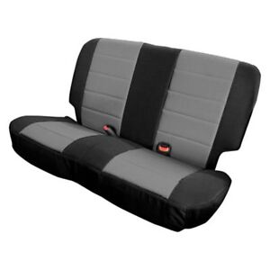 For Jeep Wrangler 08-12 XRC 2nd Row w Gray Center & Black Sides Seat Covers