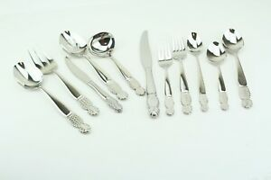 Ginkgo Pineapple 18/10  Stainless Flatware Your Choice