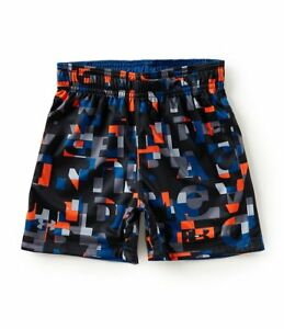 NEW - Under Armour Little Boys Reversible Printed Athletic Shorts - BlackBlue