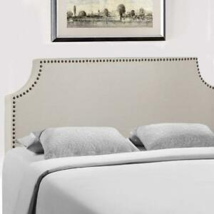 Headboard Fabric Upholstered FullQueen Size Headboard With Modern Linen Tufted