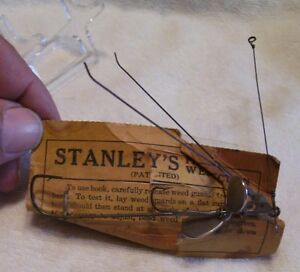 STANLEY PERFECTION WEEDLESS LURE 08 31 18pots ON CARD