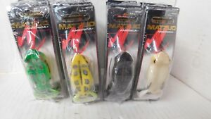 BUYING 4 DIFFERENT 6 PACKS MATZUO FROG LURES-TOTAL 24 FROGS