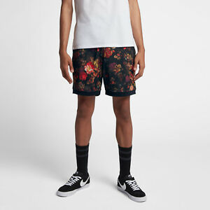 Nike SB Dri-FIT Men's Printed Floral Shorts XXL Black Multi Casual Gym 2XL New