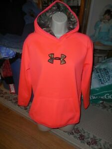 Under Armour Hoodie Size XL Youth Neon Camo Girls Storm Worn Twice