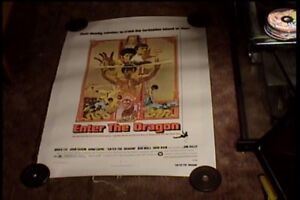 ENTER THE DRAGON 1973 ORIG MOVIE POSTER BRUCE LEE CLASSIC MARTIAL ARTS LINEN