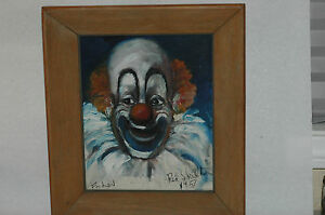 RARE Early Original Red Skelton Clown painting with Stunning Provenance
