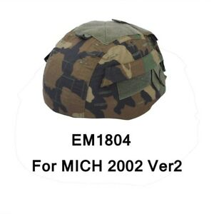 Tactical Military Airsoft Hunting Helmet Emerson  Camo Cover for MICH 2002 Ver2