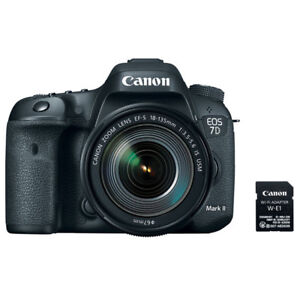 Canon EOS 7D Mark II EF-S 18-135MM f3.5-5.6 IS USM Lens and Wi-Fi Adapter Kit