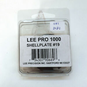 Lee Precision Reloading Pro 1000 #19 Shell Plate 90669