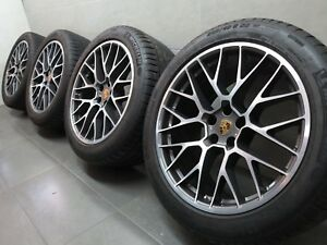 20 Inch Original Summer Wheels Porsche Macan 95B Rs Spyder Design 95B601025BFBg