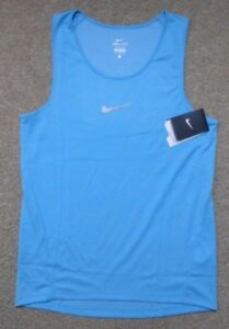 Nike XL Mens Dri Fit AEROREACT Running TANK Top NEW $85 920783 418 Aqua Blue $38.94