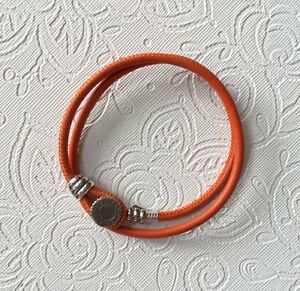 Pandora Spicy Orange Double Leather Bracelet 38cm  15
