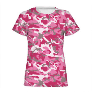 Camo Camouflage Women T Shirt 6 Colors Short Sleeves Tee Casual Summer Tops