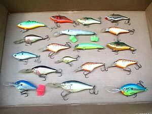 18 - FISHING LURES - RAPALA BURKLEY ECT LURES - WINNER GETS ALL