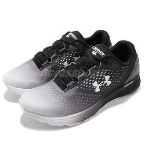 Under Armour UA Charged Bandit 4 Black White Men Running Shoes 3020319-102
