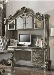 Acme Versailles Computer Deskand Hutch in Antique Platinum Finish 92824