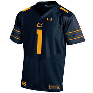 Cal Bears Under Armour Navy #1 HeatGear Loose Sideline Replica Football Jersey