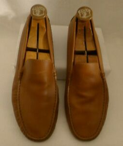 TOD'S Designer Mens Drivers Loafers Shoes Camel Color Size 10