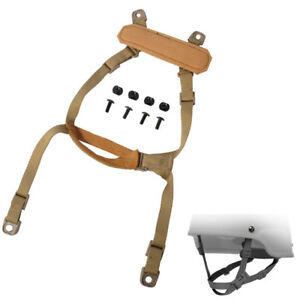 FMA Airsoft Army Tactical MICH ACH Helmet Retention System H-Nape Chin Strap Tan